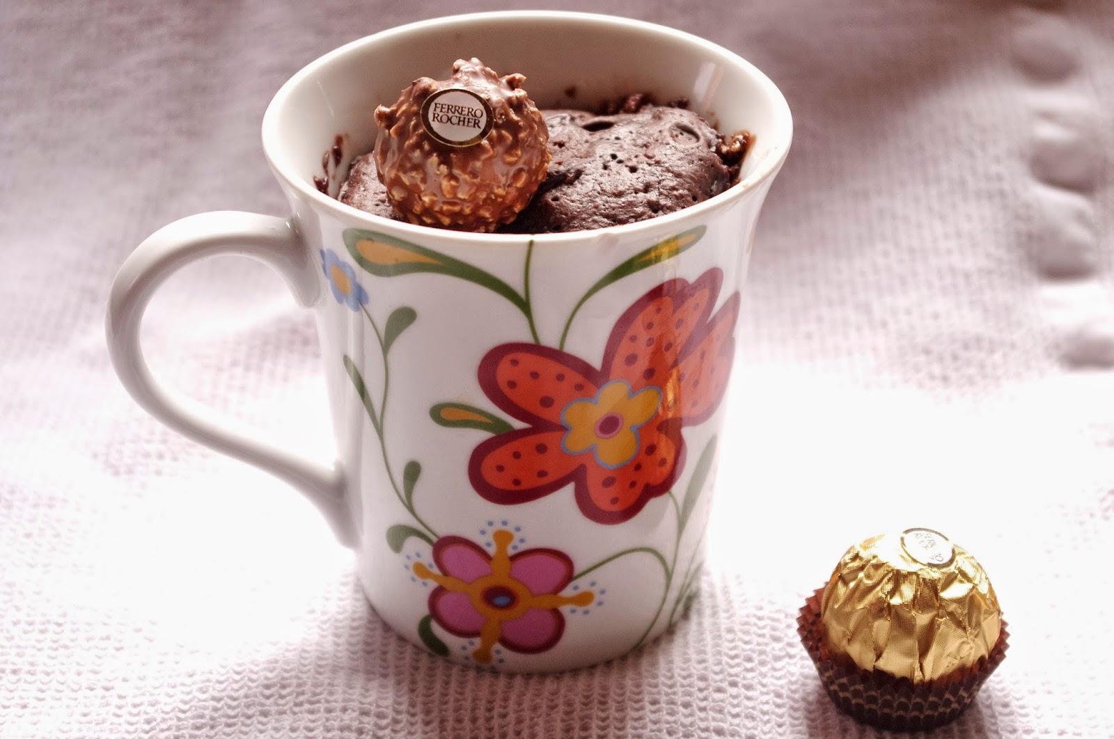 Mug Cake Au Ferrero Rocher Sans Oeufs Sans Beurre Et Sans Lactose